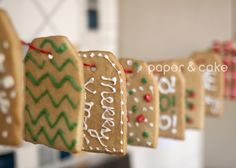 Sweet Holiday Sugar Cookie Garland how-to | Paper & Cake