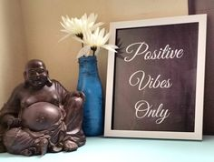 Positive vibes only quote 8.5 x 11 inch art print by StarrJoy16