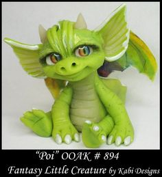 Fantasy Dragon DollHouse Art Doll Polymer Clay CDHM OOAK IADR Pio sculpture mini #KabiDesigns