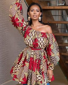 ankara mode Thanks for stopping by! An ankara mini dress which could also double as a blouse and can also be worn alone without the belt made from quality ankara print to make you appear African Print Dresses, African Print Fashion, Africa Fashion, African Fashion Dresses, African Attire, African Wear, African Women, African Dress, Ankara Fashion
