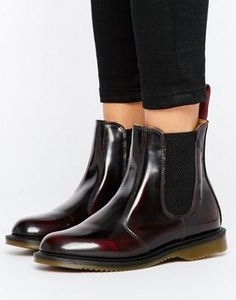 the latest f6bf3 fac96 Dr Martens Kensington Flora Burgundy Chelsea Boots Chelsea Stövlar Outfit,  Dr Martens Outfit, Asos