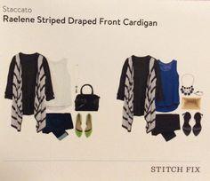 Staccato raelene striped draped front cardigan  https://www.stitchfix.com/referral/4582629