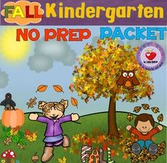 NO PREP KINDERGARTEN PACKET- MATH & ELA! Enter for your chance to win 1 of 6. Fall NO PREP Packet- Kindergarten  (66 pages) from LidonBeltran on TeachersNotebook.com (Ends on on 10-07-2016) This Kindergarten packet includes fall-themed worksheets that can be used for Math and Literacy centers, homework, review, early finishers or morning work. Ready to print and use, no additional prep!.