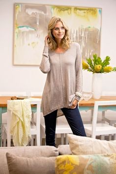 b1aa5930dd bird keepers The Wool Pullover Tunic - Natural Coloured Knit - Womens Tunics  - Work to