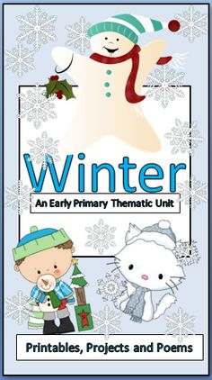 This unit on the winter season has it all. Poems with complimenting activities. Art projects to compliment the poems and worksheets. Extend your students knowledge of the winter season's concepts and vocabulary with these great activities. This unit helps you to use the fun of the winter season to build skills in math and literacy. All work is aligned with CCSS and WIDA.