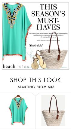 """""""In the Bag: Beach Totes"""" by aurora-australis ❤ liked on Polyvore featuring H&M, Chanel, Sheinside and beachtotes"""
