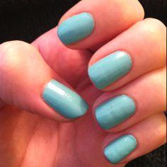 #chanel #nails Nouvelle Vague #turquoise