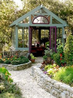 Both a garden resort and a greenhouse? Yes, please. Both a garden resort and a greenhouse? Yes, please. Greenhouse Shed, Greenhouse Gardening, Window Greenhouse, Small Greenhouse, Pallet Greenhouse, Outdoor Greenhouse, Portable Greenhouse, Fairy Gardening, Greenhouse Wedding