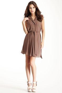 Topstitch Shirt Dress