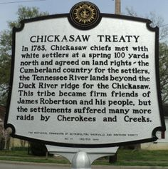 Chickasaw Indian Tribe | Chickasaw Treaty Historical Marker