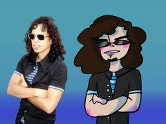 Metallica Art, Queen Meme, Kirk Hammett, Great Bands, Fanart, Rock, Skirt, Fan Art, Locks
