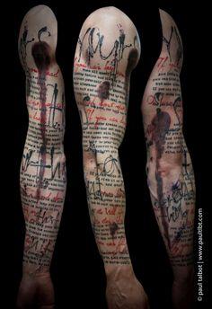 Paul Talbot tat based on poem 'If' by Rudyard Kipling -- love!!