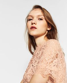 LACE T-SHIRT from Zara