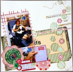 The last One 12x12 Layout by Jan Hobbins, August Kit project idea    little black dress kit club scrapbook 12x12 layout
