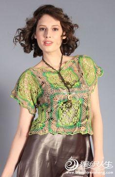 漂亮的方块拼花衣 - 飘雨菲菲 - 飘雨菲菲de编织乐园
