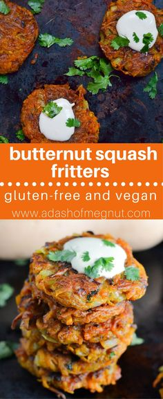 These vegan curried butternut squash fritters are so easy to make with just a few simple ingredients! You can have these gluten-free and vegan fritters on the table in under 30 minutes!