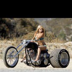 trike motor bikes nude girls: 26 thousand results found on Yandex. Lady Biker, Biker Girl, Female Motorcycle Riders, Girl Motorcycle, Custom Trikes, Stunt Bike, Mädchen In Bikinis, Hot Bikes, Biker Chick
