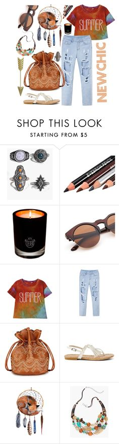 """""""#Newchic _ #Boho style"""" by siwarchihawi ❤ liked on Polyvore featuring Boohoo, EB Florals, Karen Millen, Chico's, chic, New and newchic"""