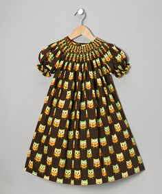 Take a look at this Brown Owl Peasant Dress - Infant, Toddler & Girls by Marjorie's Daughter on #zulily today!