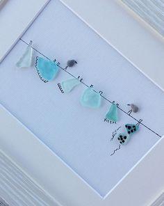 Pebble art wire, sea glass wire birds, birds art, home living, new home gift, sea glass art, sea glass picture, wall art modern