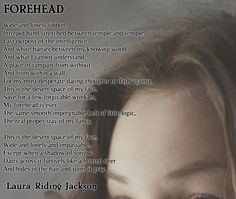 PMM: Battle of the Birthday Buddies! Contestant 2 ---  Forehead by Laura Riding Jackson