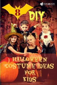8 DIY Halloween Costume Ideas for Kids- Go trick or treating in style without breaking the bank! #Halloweencostumes #halloween