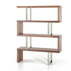 "VIG Furniture Modrest Maze 67"" Accent Shelves Bookcase 