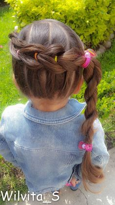 Peinado fácil para niña / Easy hairstyle for girl ❤
