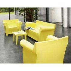 Beau Bubble Club Sofa, Armchair And Table Philippe Starck Kartell