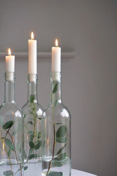 Wedding Centerpieces, Wedding Table, Diy Wedding, Wedding Decorations, Table Decorations, Tree Branch Centerpieces, Centrepiece Ideas, Wine Bottle Centerpieces, Graduation Centerpiece
