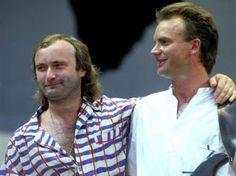 PUEBLA REVISTA: En 1981...Phill Collins y Sting juntos