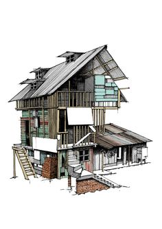 Architectural Illustrations by Kyle Henderson
