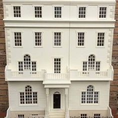 The Strand a regency 12 room town house available in kit-form and or readymade. This stunning grand design large dolls house includes the floor stand supporting the basement and the additional rooms above. Large Dolls House, Dolls House Shop, Doll Houses, Miniature Rooms, Miniature Houses, Miniature Paintings, Dollhouse Design, Dollhouse Ideas, Diy Doll Miniatures