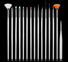 15PCS Nail Pens UV Gel Design Painting Art Brush Set for Salon Manicure DIY Tool #Unbranded