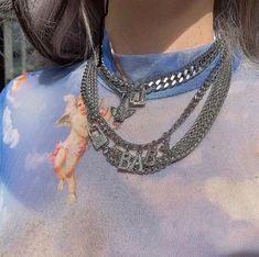 Best necklaces for a weekend Cute Jewelry, Jewelry Accessories, Grunge Jewelry, Gothic Jewelry, Streetwear Fashion, Jewelery, Fashion Jewelry, Women's Fashion, Cute Outfits