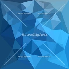 Cornflower Blue Abstract Low Polygon Background Vector Stock Illustration. Low polygon style illustration of a cornflower blue abstract geometric background. #illustration  #CornflowerBlueAbstract