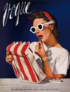 Vintage Vogue cover August 1939 (Cover: Horst P. Vogue Vintage, Capas Vintage Da Vogue, Vintage Vogue Covers, Moda Vintage, Style Vintage, Retro Vintage, Vintage Fashion, Vintage Cups, 1930s Fashion