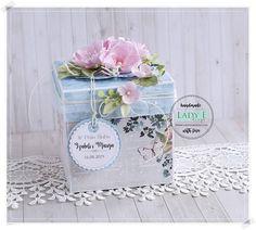 Diy Card Box, Diy Box, Scrapbook Box, Scrapbooking, Exploding Box Card, Gorgeous Cakes, Envelope, Decorative Boxes, Gift Wrapping