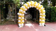 Arco de globos para boda en Zamora Google, Wedding Decoration, Archway Decor, White Balloons, Wedding Balloons, Balloon Arch, Arches