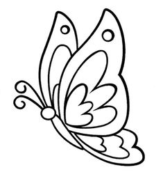 Free Printable Butterfly Coloring Pages For Kids Butterfly Coloring Page, Butterfly Drawing, Butterfly Painting, Butterfly Crafts, Butterfly Mobile, Hand Embroidery Patterns, Applique Patterns, Mosaic Patterns, Quilt Patterns