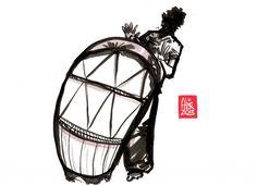 Encres : Capoeira – 484 « Atabac » [ #capoeira #watercolor #illustration]