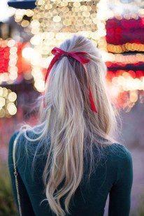 #Long hair#Ponytail #Hair Bow