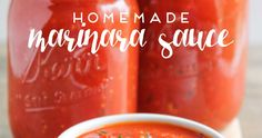 This homemade marinara sauce is simple to make and so flavorful and delicious!