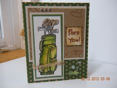 Happy Fathers Day Card Golfing card Fore by Creativecardsandmore