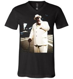 Notorious BIG Biggie Smalls Big Poppa Frank White Christopher Wallace,Bad Boy Records, Hip Hop New York Brooklyn,v7, Canvas Unisex V-Neck T-Shirt