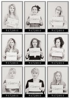 Day after mugshots, cute for bachelorette weekend!  All the bridal party ideas you can handle!: Awesome Ideas!