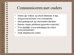HGW: communiceren met ouders