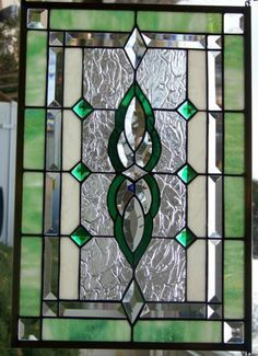 Arts and crafts style stained glass