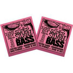 Ernie Ball 2834 Super Slinky Round Wound Bass Strings 2 Pack