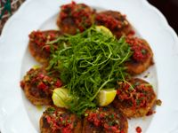 Jamie Oliver's crab cakes with Blackened Salsa